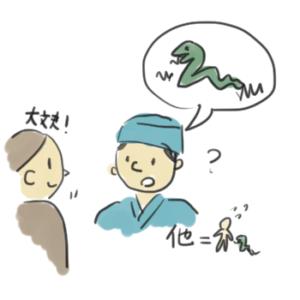 他という漢字の成り立ちを説明しているイラスト