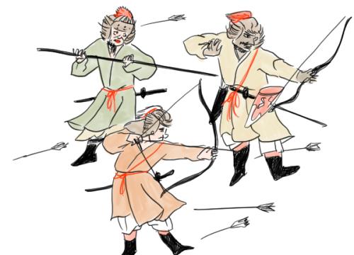 蒙古襲来絵詞のイラスト
