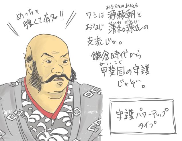 武田信玄がどういう人かを表したイラスト