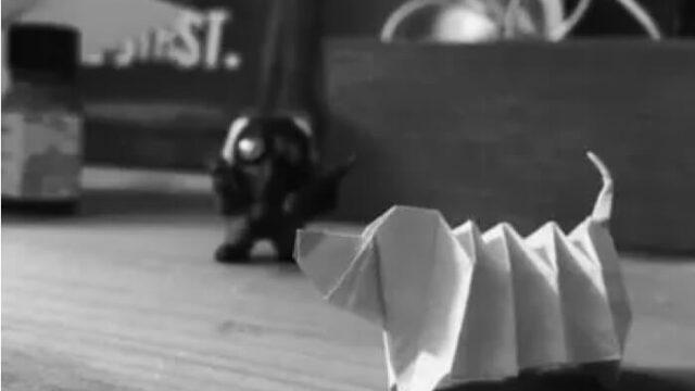折り紙の犬の画像