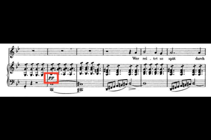 シューベルト魔王の楽譜