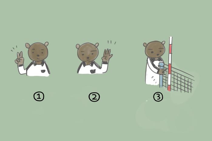 バレーボールのルールについてのテストのイラスト