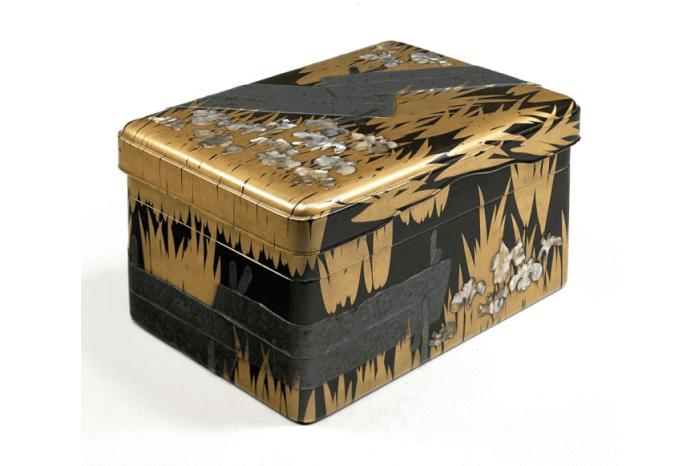 八橋蒔絵螺鈿硯箱の画像