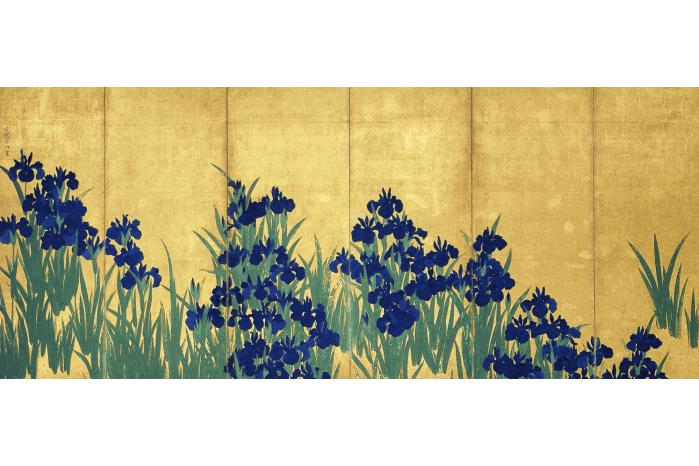 燕子花図屏風の画像