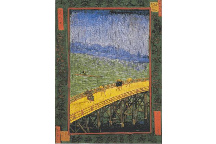ゴッホによる浮世絵模写の画像