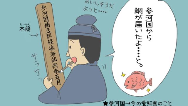 奈良時代の役人が木簡を書いているイラスト