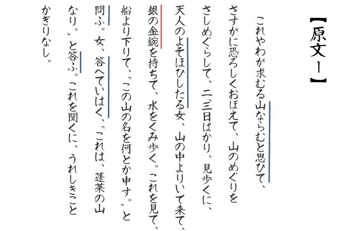 竹取物語テストの問題の画像